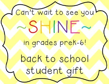 back to school student gift FREEBIE! - glow sticks!