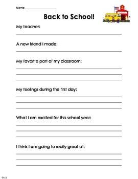 back to school worksheet