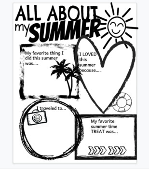 back to school writing: ALL ABOUT my summer!