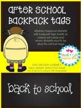 backpack tags transportation after school bag tag