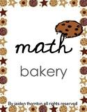 bakery classroom baker's math