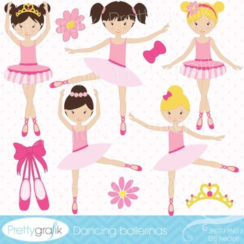 ballerina clipart commercial use, vector graphics, digital