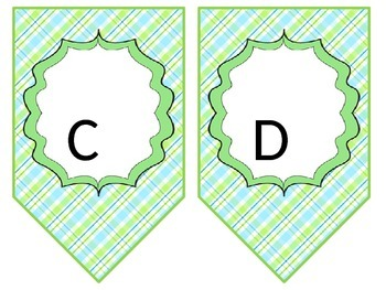 banner and classroom labels