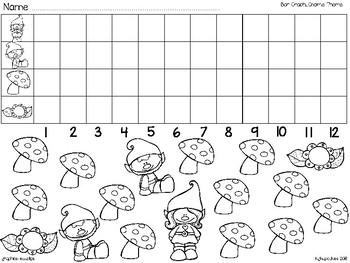 bar graph: garden gnomes + bonus numeral cards 1 to 20