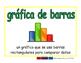 bar graph/grafica de barras prim 2-way blue/verde