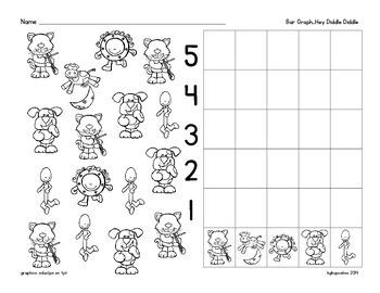 bar graph: nursery rhyme theme_hey diddle diddle plus bonus