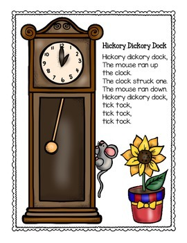 bar graph: nursery rhyme theme_hickory dickory dock_plus bonus