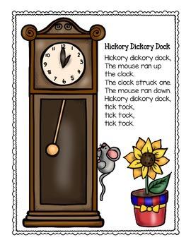 bar graph: nursery rhyme theme_hickory dickory dock_plus bonus