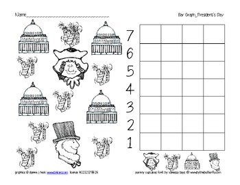 bar graph president's day theme