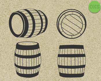 barrel SVG cut files, DXF, vector EPS cutting file instant download for cricut