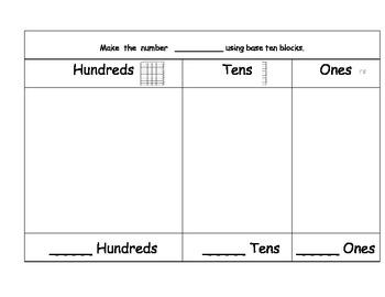 base ten centers template