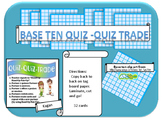 base ten quiz Quiz trade cards