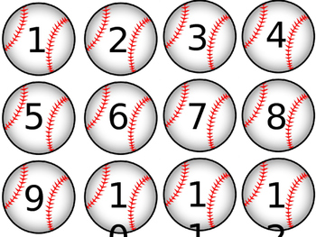 baseballs for calendar or counting