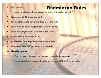 basic Badminton lesson