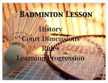 basic Badminton lesson