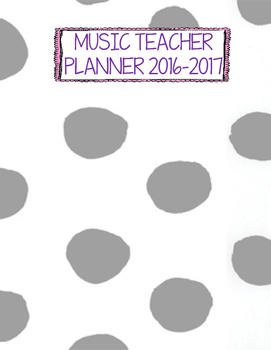 basic gray binder cover - Polka Dots