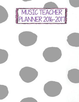 basic gray binder cover - Polka Dots