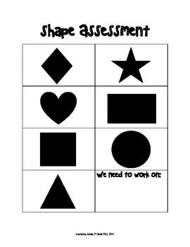 basic shapes assessment