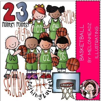 Melonheadz: Basketball clip art
