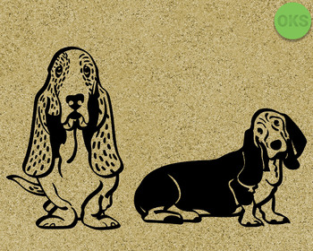 basset hound SVG cut files, DXF, vector EPS cutting file instant download