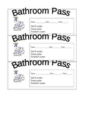bathroom passes 3 to a page