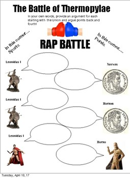 battle of thermopylae: Rap Battle