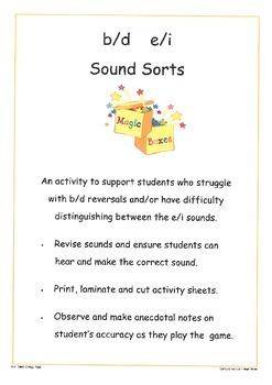 b/d e/i Sound Sort
