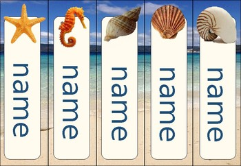 beach theme bookmarks