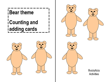 bear counting and adding cards
