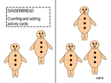 gingerbread counting and adding cards