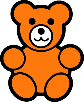 counting bears  clip art