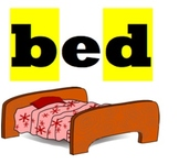 """bed"" Mini Signs for ""b"" and ""d"" reversal"