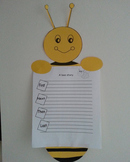 bee craft and writing prompts