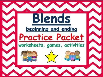 beginning and ending blends practice packet: Worksheets, g