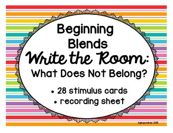 beginning blends write the room_what does not belong?