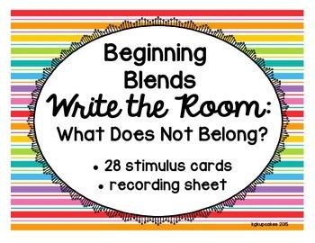 beginning blends write the room_what does not belong?