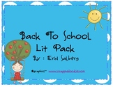 beginning of the year literacy pack