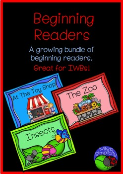 beginning readers bundle – 3 readers  – great for IWBs!