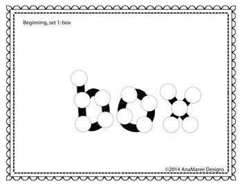 beginning sight words, set 1, group 1. Do-a-dots