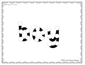 beginning sight words, set 1, group 2. Do-a-dots