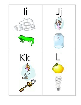 beginning sounds alphabet cards