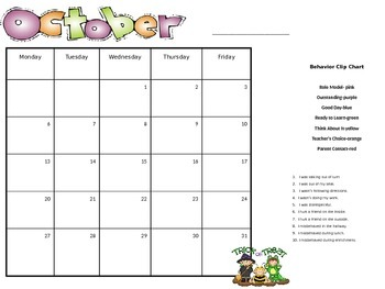 behavior calendar (editable)