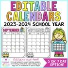 Behavior Calendars {Editable!} 2017-2018