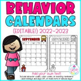 Behavior Calendars {Editable!} 2018-2019