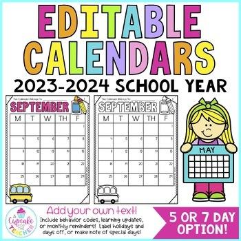 Behavior Calendars {Editable!} 2018-2019