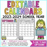 Editable Calendars 2021-2022 | Behavior Calendars