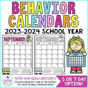 Behavior Calendars {Non-Editable with Codes!} 2016-2017