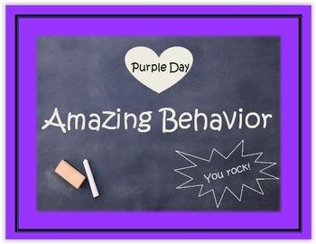 behavior chart chalk themed