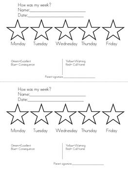behavior chart/ tabla de comportamiento