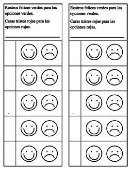 behavior charts in spanish